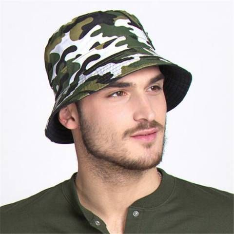 Outdoor camo bucket hat for men military style sun hats UV package