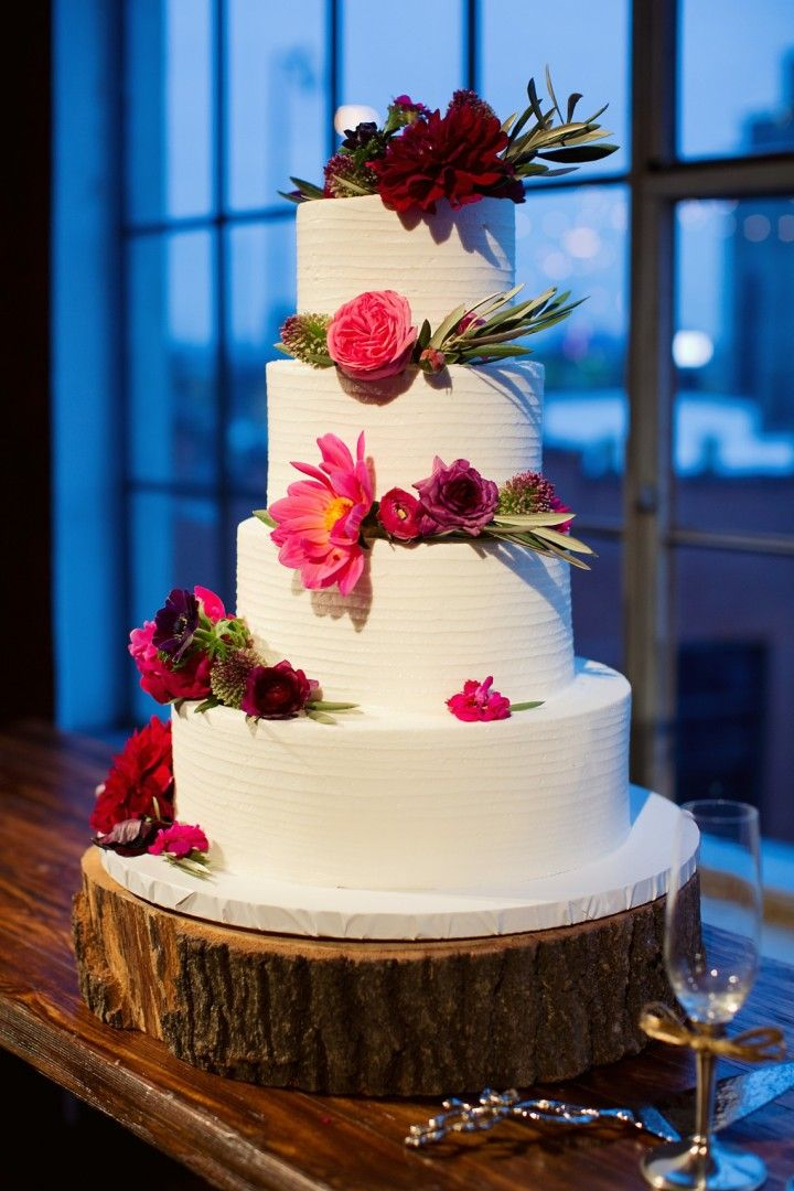 Colorful Rustic Dallas Wedding from Sarah Kate - wedding cake idea