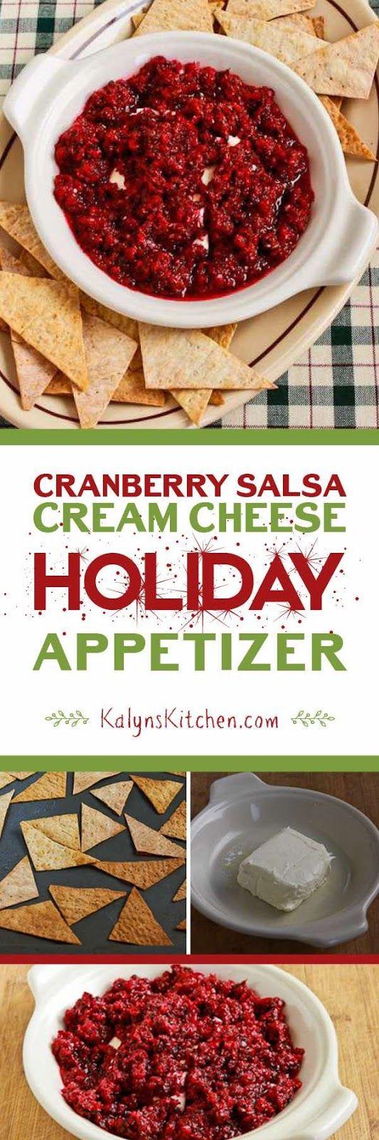 Cranberry Salsa Cream Cheese Holiday Appetizer | Cranberry salsa ...
