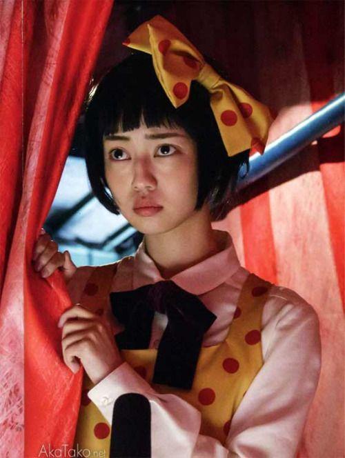 "Nakamura Risa 中村 里砂 as Midori みどり in Shoujo tsubaki 少女椿 (Midori - The Camellia Girl) movie still - Director: TORICO - from the Suehiro Maruo's manga - Japan - 2015 """