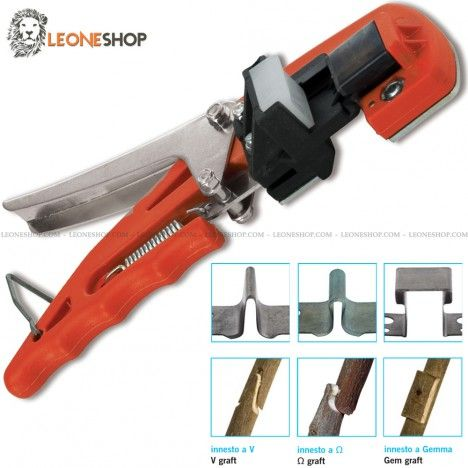 Professional manual grafter 3 cuts stafor italy gardening for Professional gardening tools