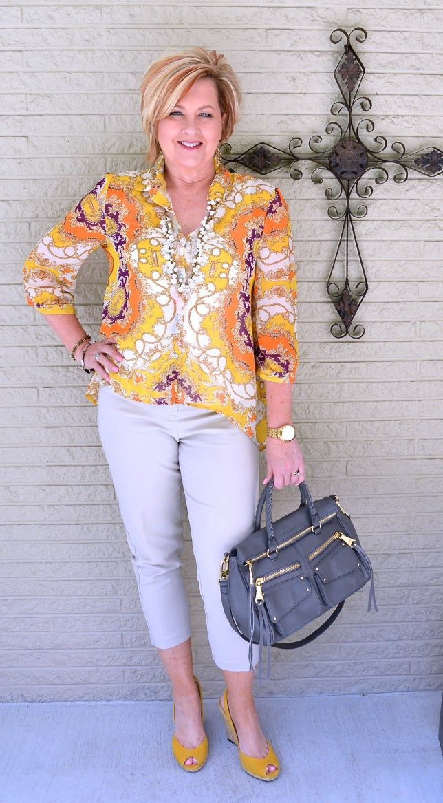 50 Is not Old | Cool Spell | Sheer Blouse | Fashion over 40 for the everyday woman