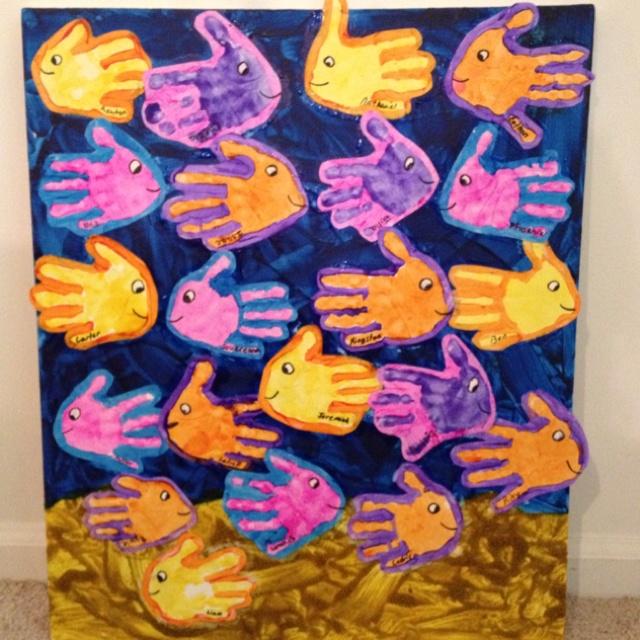 Vissen maken van handen