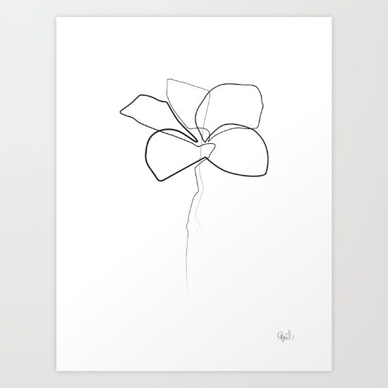 Buy Oneline Frangipani Art Print by quibe. Worldwide shipping available at Society6.com. Just one of millions of high quality products available.