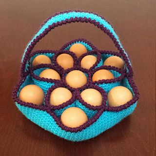 This pattern is an 8 page .pdf file with written instructions and 20 photos outlining how to crochet my egg basket design.