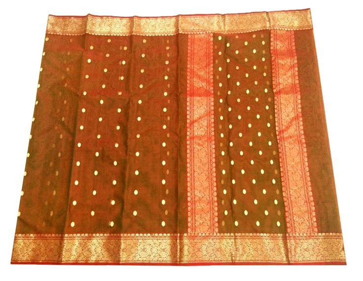 This Chanderi Saree is made of Pure Kataan Silk. Length is approx. 6.25 meter, and width is approx 45 inches. At the time of listing this product, this item is available. In case this item is sold out from our physical store, the full refund will be initiated back to you within 24 hours of making th