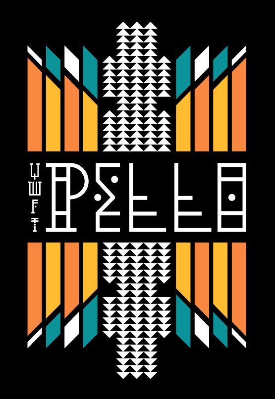 YWFT Pello by Jackkrit AnantakulDesign Inspiration, Types Posters, Jackkrit Anantakul, Aztec Posters, Pello Types, Graphics Design, Typography, Design Jackkrit, Ywft Pello