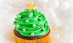 Weihnachts-Cupcakes Diese süssen Weihnachtsbäumchen zaubern auf jeder Tafel festliche Stimmung!