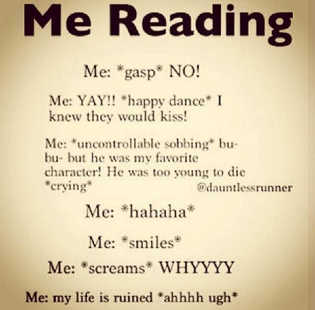 *After I read the ending:* *sobs* Mom:Why are you crying? ME: I LOVE THIS BOOK! Mom:BUT WHY ARE YOU CRYING!?!?! Me:Because I hate it at the same time!