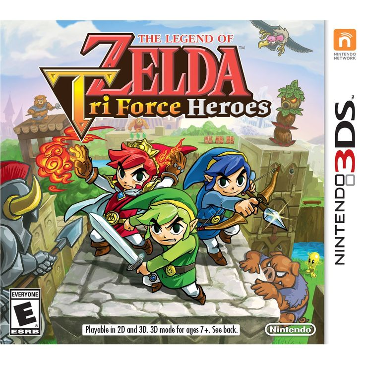 Product Features Team up with two other players, each of you as Link, and embark on an exciting all-new adventure in The Legend of Zelda: Triforce Heroes Enjoy a similar visual style and top-down view