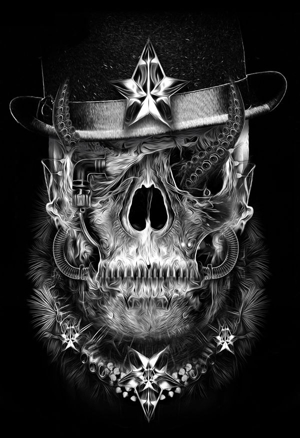 Obery Nicolas has created these awesome digital art pieces, his work is usually monochrome, extremely detailed and inspiring. Obery is currently living in Paris.