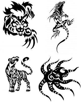 Tribal Animals Free Tattoos Gallery.