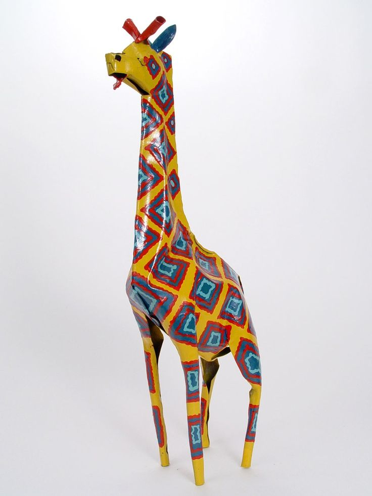 Aninimal Book: Large Tin Giraffe $36.00. The giraffe is a graceful animal ...
