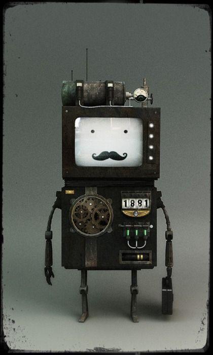 Robot!  (c) Riccardo Zema https://www.behance.net/gallery/Stylized-Robots-Mixed-Updated-2109/4947511