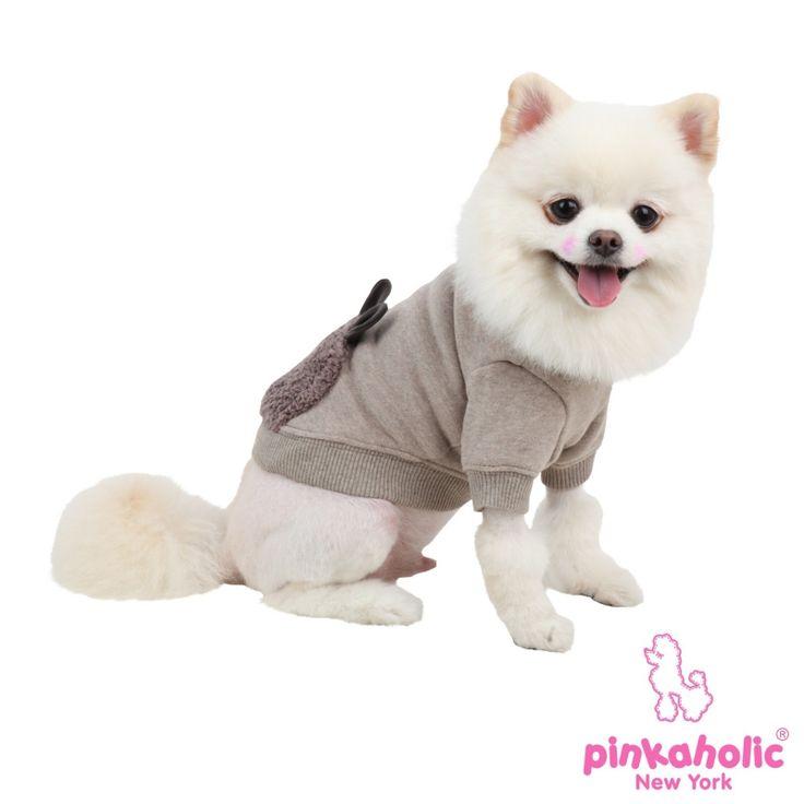 SUETER ZANY para #perro de Pinkaholic con orejitas que sobresalen en la espalda. Disponible en Marron y Rosa http://bit.ly/1F5Q0HV