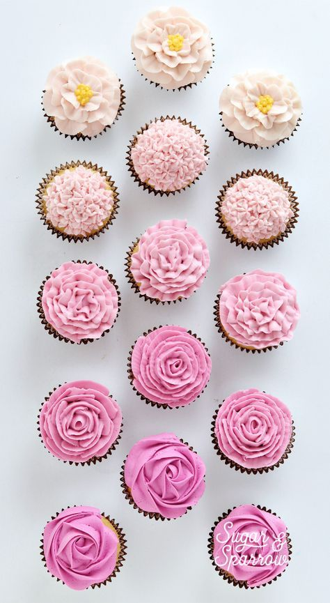 Learn How To Make These 5 Easy Floral Cupcake Designs By Sugar