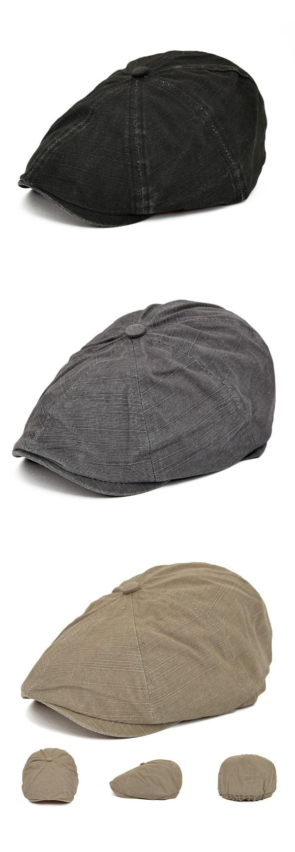 US$8.68+Free shipping. Knitted Hat, Beret Hat, Gentleman Cap, Newsboy Cap,Duckbill Golf.Unisex, Buckle Adjustable. Material:Cotton Blend. Color:Gray, Black, Brown, Khaki, Army Green