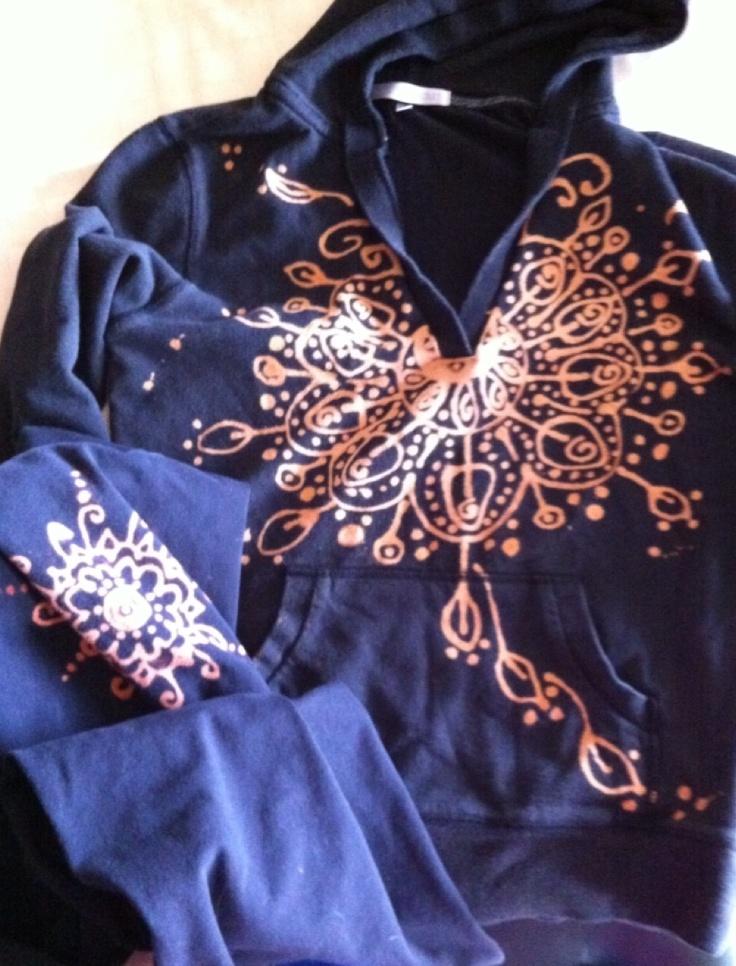 Upcycle Victoria Secret yoga clothes (bleach pen design)