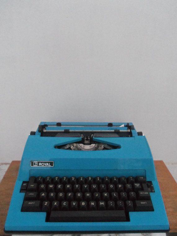 Fab Retro Blue Royal Electric Typewriter by bettyrayvintage