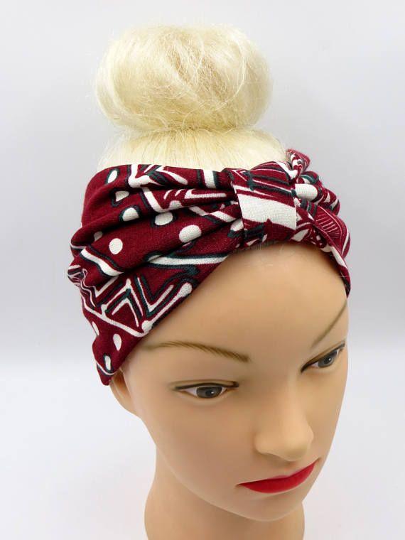 Larga fascia per capelli stampa etnica fascia per capelli