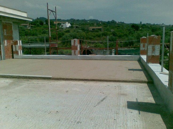massetto termico NATURMAS all\'esterno su terrazza, Aci Castello ...