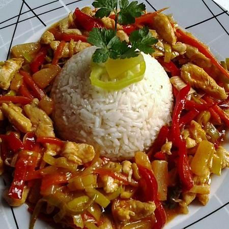 Édes-savanyú-csípős csirkemell