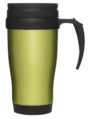 Bilkopp, grønnRustfritt stål, plastikk lokk m drikkeåpning. Størrelse: 50 cl Emballasje: Giftbox