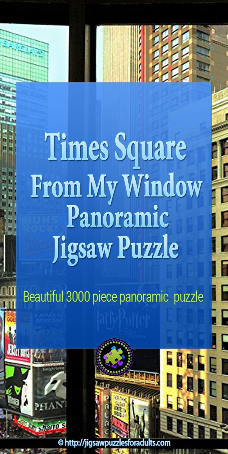 Times Square From My Window 3000 Piece Panorama Puzzle is an stunning view of Times Square! This is an ideal jigsaw puzzle for adults.