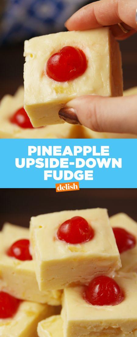 Pineapple Upside-Down Fudge