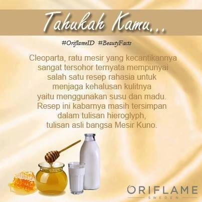 Manjakan kulit mu dari sekarag juga dengan menggunakan produk Oriflame Milk And Honey dari bahan susu dan madu yang akan membuat kulit kita semakin cerah dan lembut ...