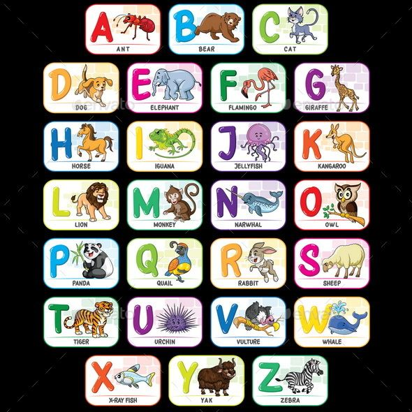 Animal Alphabet A To Z Animal Alphabet Printable Animal Alphabet Alphabet