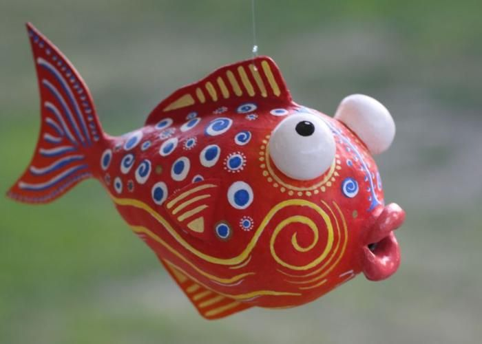 Paper Mache Fish | Yessy Home > Andre Senasac > Andre Senasac Gallery > Paper Mache Fish