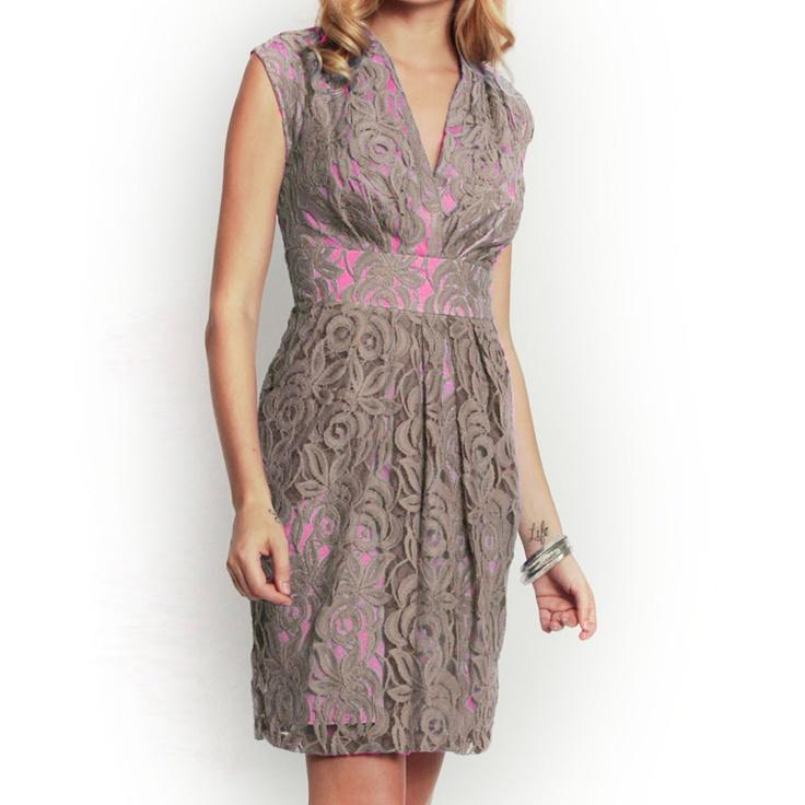 Artemis Dress Taupe Lace