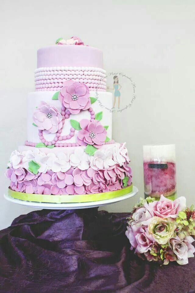 No, It Is Not A Wedding Cake ! It Is A Cake For A Girl Baby Shower.This  Elegant Cake Was Submitted By Candace, A Creative And Talented Cake  Decorator From ...
