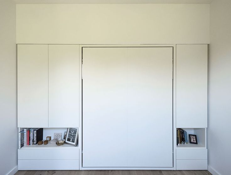 Bed Folds Up Into The Wall Modern Brooklyn Apartment Master Bedroom With A Murphy  Bed