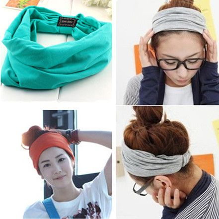 2015 New variety of wear method Cotton Elastic Sports Headbands Wide Headband HB054-in Hair Accessories from Women's Clothing & Accessories on Aliexpress.com | Alibaba Group