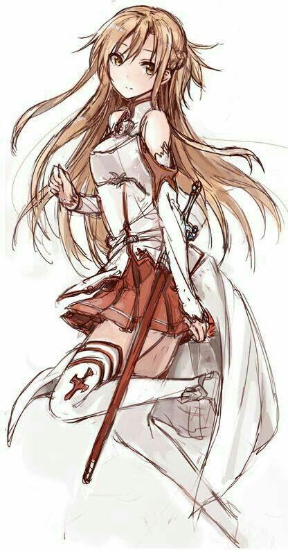 Sword Art Online Asuna render