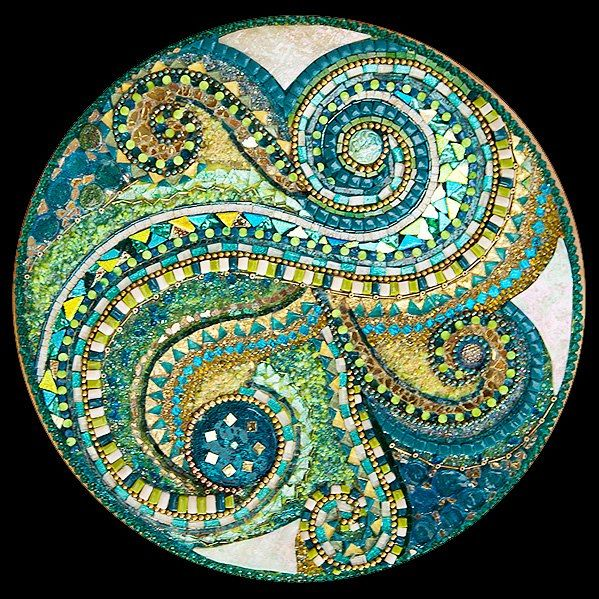 Rotating, Jewelled Circles 1, detail by Jacqui Ridley