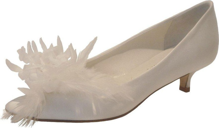 Clay by Something Bleu  3cm Sizes 35-42 white dyeable silk satin. One pair left 6.5.
