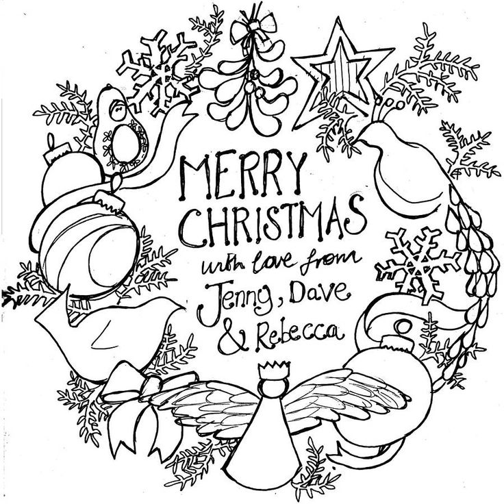 Christmas Wreath Coloring pages, Christmas wreaths