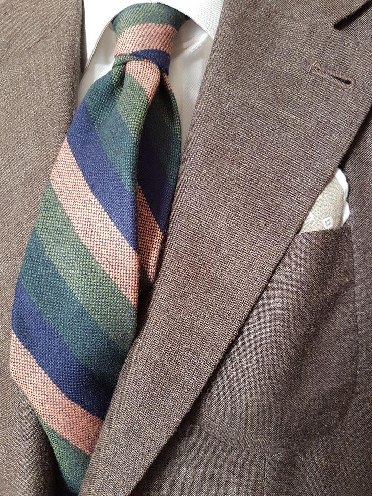 Handmade Bespoke Unlined Necktie Wool Silk Linen by ExclusiveTieShop on Etsy