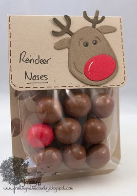 Reindeer noses. chocolate malt balls and one red gumball