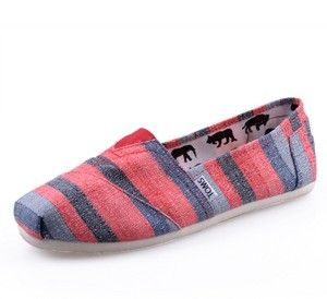Beige Color Zebra Toms Canvas Shoes