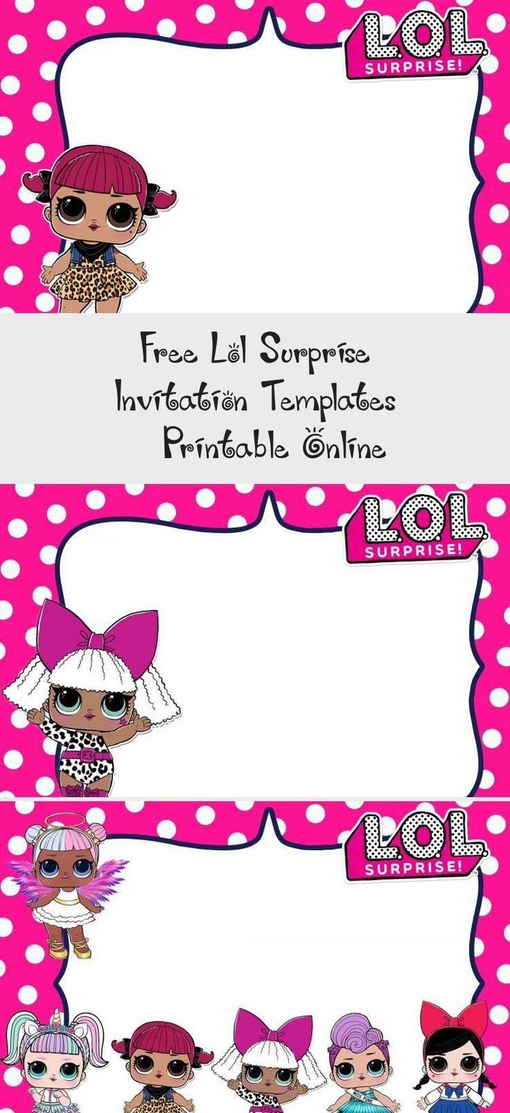 free lol surprise invitation templates  printable online