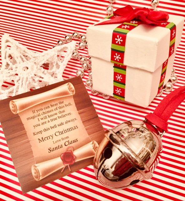 "Polar Express Bell ""First Gift of Christmas"" Large Silver Reindeer BOXED BRASS ""Believe"" Child Santa Jingle Sleigh Elf (UK Seller) by PrettyJewelsUK on Etsy https://www.etsy.com/uk/listing/167964709/polar-express-bell-first-gift-of"