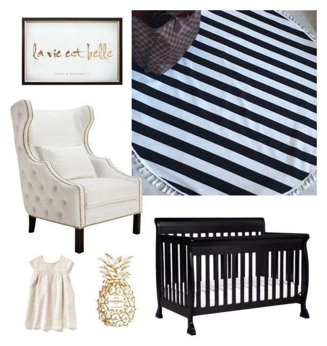 """Classic Black and White"" by am-grace-m on Polyvore featuring interior, interiors, interior design, home, home decor, interior decorating, Chanel, DaVinci and Old Navy"