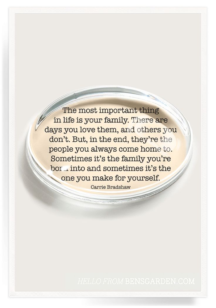 The Most Important Thing Crystal Oval Paperweight