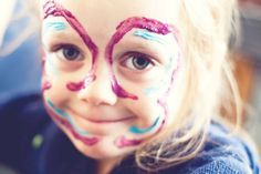 Here's how to make all-natural face paint for the kiddos.