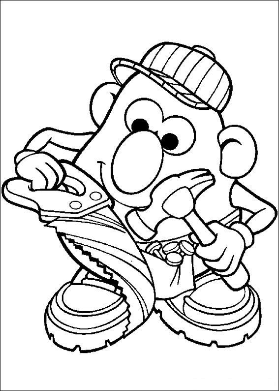 Mr Potato Head Coloring Page Free Printable Coloring Pages - 567×794