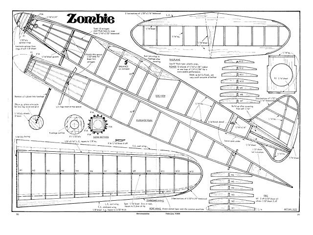 Zombie - plan thumbnail | Balsa wood model airplane plans | Pinterest | Zombies and Zombie plan